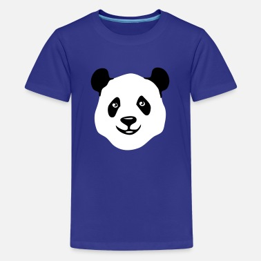 Panda Teddy panda teddy bear face cute animal save - Kids' Premium T-Shirt