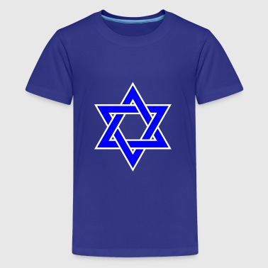 Jewish Star Of David Star of David | Blue Star Jewish Religion Symbol - Kids' Premium T-Shirt