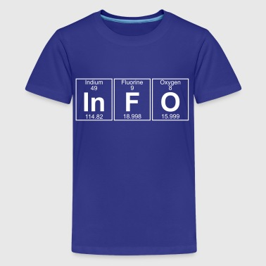 Indium In-F-O (info) - Full - Kids' Premium T-Shirt