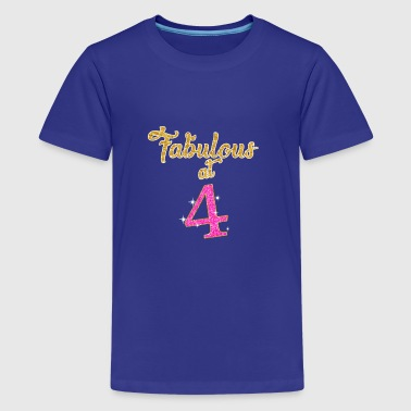 Fabulous at 4 - Kids' Premium T-Shirt