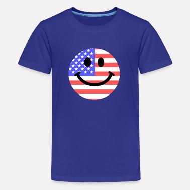 096f338b919e American flag smiley face - Kids  39  Premium T-Shirt