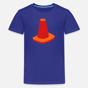 Cone witches hat traffic cone road marker - Kids' Premium T-Shirt