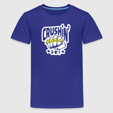 Crushin' it, or Crushing it! Brass Knuckles Style - Kids' Premium T-Shirt