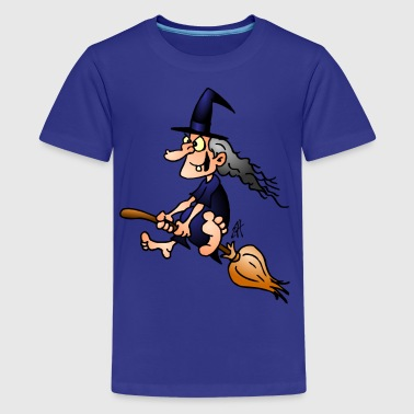 Witch on a broom - Kids' Premium T-Shirt