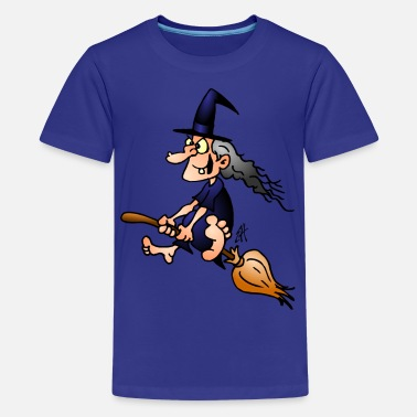 Witches Broom Witch on a broom - Kids' Premium T-Shirt