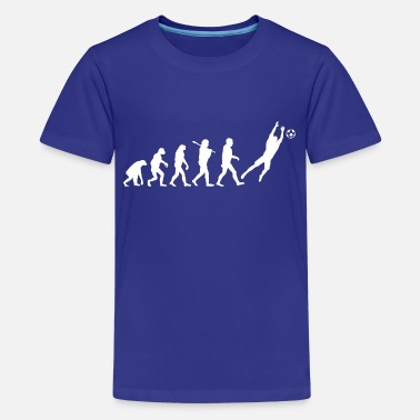 Goalkeeper Evolution of Goalkeeper - Kids' Premium T-Shirt