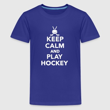 Keep calm and play Hockey - Kids' Premium T-Shirt
