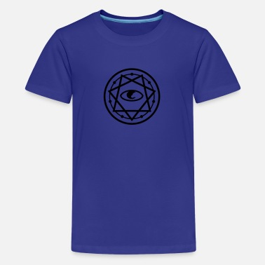 Seven Heptagram Star 777 Pentagram with Eye 1c - Kids' Premium T-Shirt
