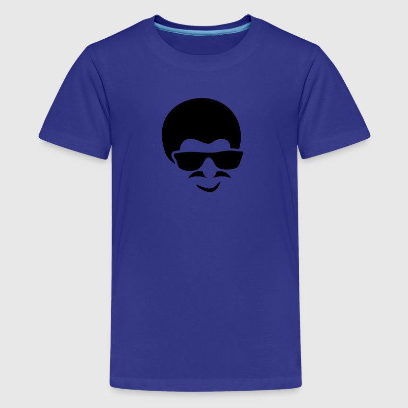 AFRO MUSTACHE GLASSES MAN RETRO - Kids' Premium T-Shirt
