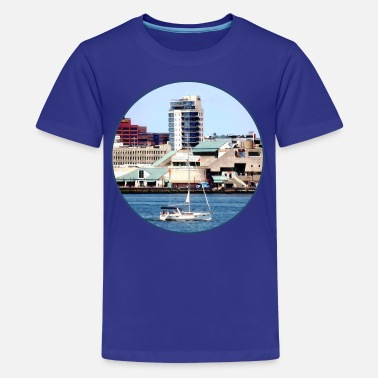 Seaport Philadelphia PA - Sailboat by Penn's Landing - Kids' Premium T-Shirt