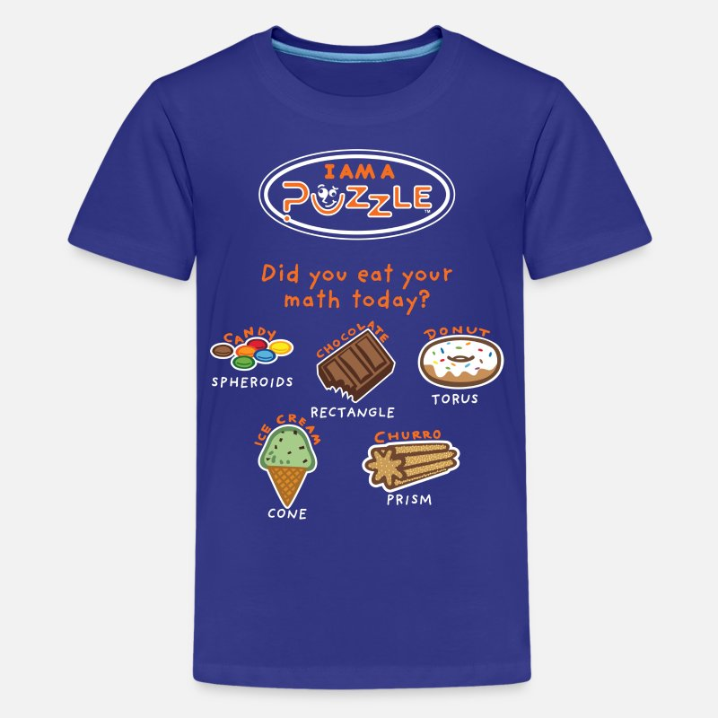 Kids T-Shirts - Did you EAT your math today?   - Kids' Premium T-Shirt royal blue