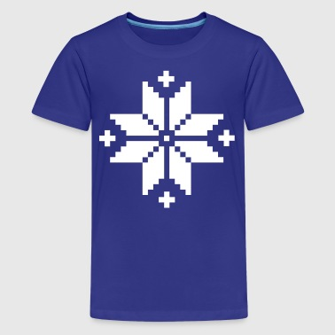 Norwegian pattern star - Kids' Premium T-Shirt