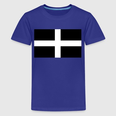 Saint Piran's Flag - Flag of Cornwall - Kids' Premium T-Shirt