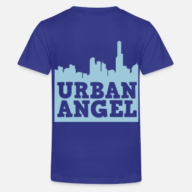 Seraphim urban angel city scape with text  - Kids' Premium T-Shirt