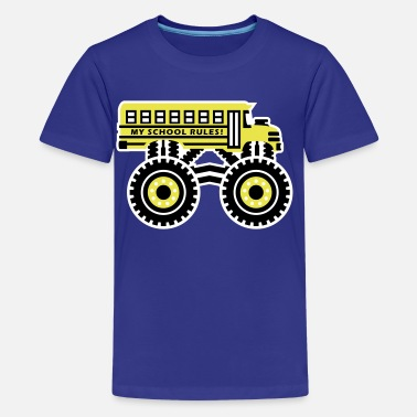 School The Monsterous School Bus - Kids' Premium T-Shirt