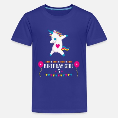 Toddler Unicorn Birthday Girl 5 T Shirt For Birthday Gift - Kids' Premium T-Shirt