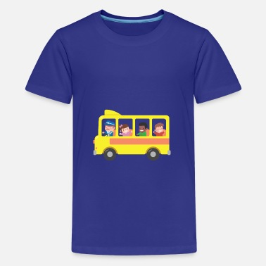 Transportation Yellow School Bus Kids - Kids' Premium T-Shirt