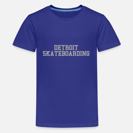 Women's Detroit Shirts T-Shirts - Detroit Skateboarding - Kids' Premium T-Shirt royal blue