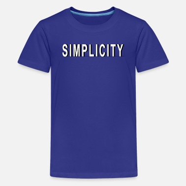Simplicity Design with Shadow - Kids' Premium T-Shirt
