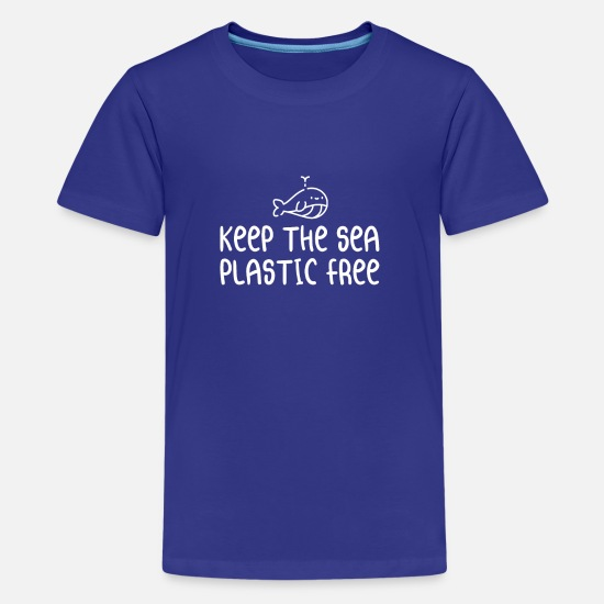 Bio T-Shirts - Keep The Sea Plastic Free - Kids' Premium T-Shirt royal blue