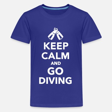 Go Diving Keep calm and go Diving - Kids' Premium T-Shirt