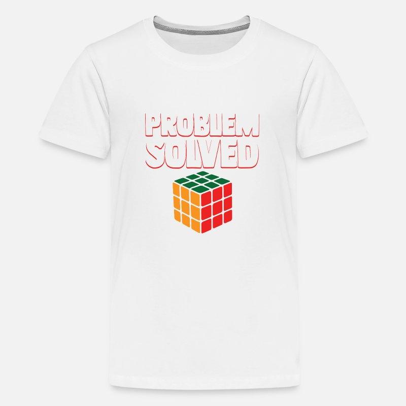4df6e17b0cc4 Vintage Games - Rubiks Problem Solved Kids' Premium T-Shirt - white