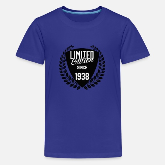 Made In 1938 T-Shirts - Limited Edition Since 1938 - Kids' Premium T-Shirt royal blue