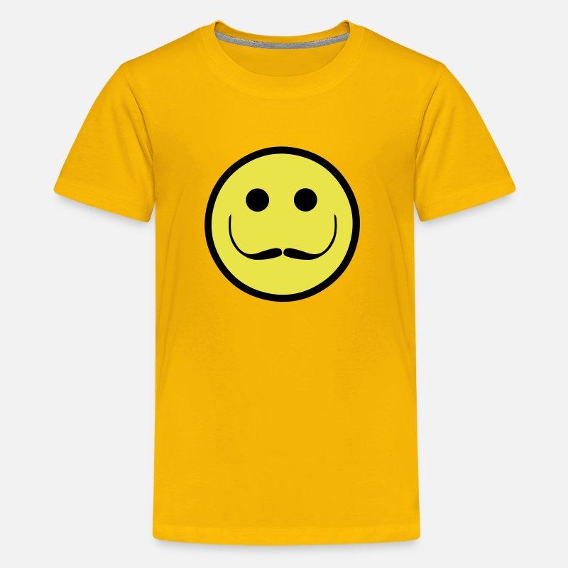 Salvador Dali Smiley Face Kids' Premium T-Shirt - sun yellow