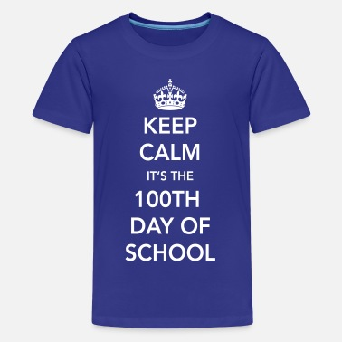 Elementary Keep calm it's the 100th day of school - Kids' Premium T-Shirt