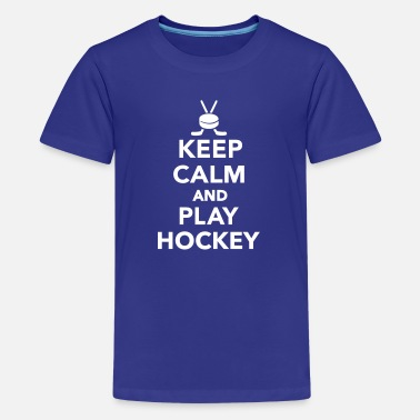 Keep Calm And Play Hockey Keep calm and play Hockey - Kids' Premium T-Shirt