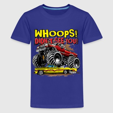 Monster Truck Whoops Red - Kids' Premium T-Shirt