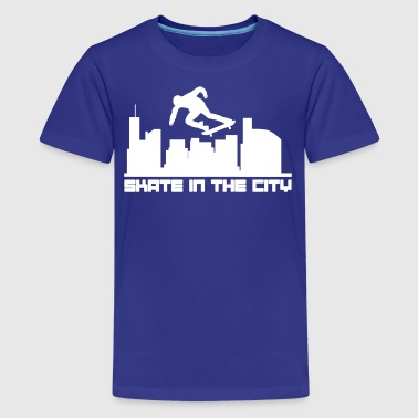 Skate in the city - Kids' Premium T-Shirt