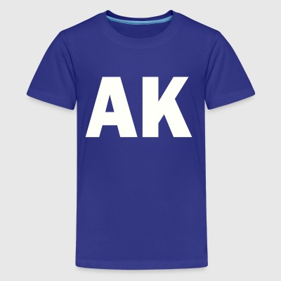 PLACE AND TIME AK WHITE - Kids' Premium T-Shirt