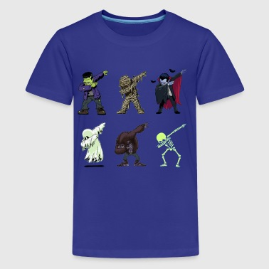 Dabbing Skeleton Halloween Monsters Dracula - Kids' Premium T-Shirt