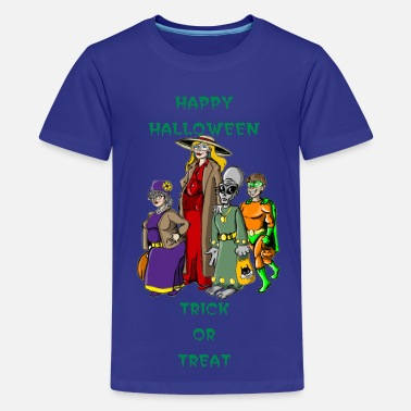 Totem Pole Trench Trick or Treat - Kids' Premium T-Shirt