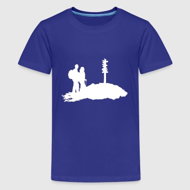Hiking, Hiker - Kids' Premium T-Shirt
