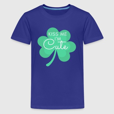 Kiss Me I'm cute shamrock - Kids' Premium T-Shirt