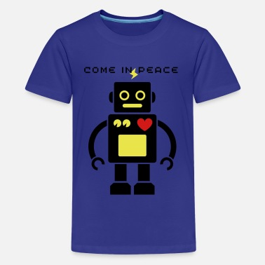 Science Cute Robot 2_3c - Kids' Premium T-Shirt
