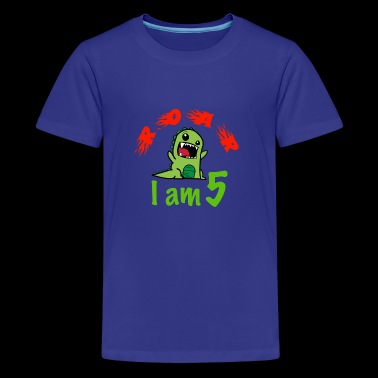 5Years old birthday cute monster - Kids' Premium T-Shirt