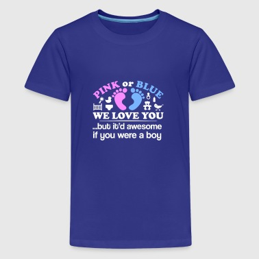 Gender Reveal Party Pink Blue We Love You - Kids' Premium T-Shirt