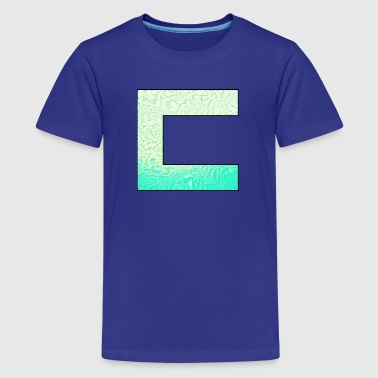 Cass3rz Gaming Logo Abstract - Blue/Green - Kids' Premium T-Shirt