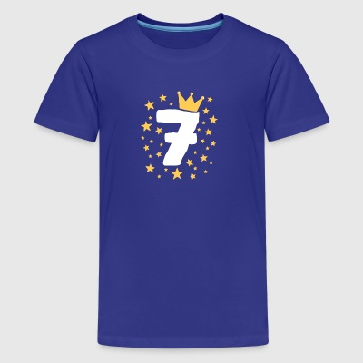 Kids Birthday 7 Year Boy King Girl Princess Crown - Kids' Premium T-Shirt