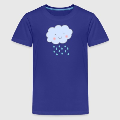 cute rain cloud - Kids' Premium T-Shirt