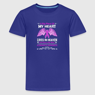 Alzheimer's Awareness My Mom Lives In Heaven - Kids' Premium T-Shirt