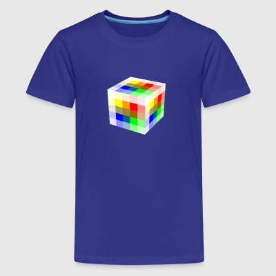 Multi Colored Cube - Kids' Premium T-Shirt