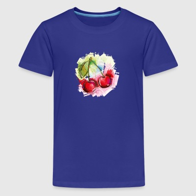 Cherry fruit sketch vector image awesome food cool - Kids' Premium T-Shirt