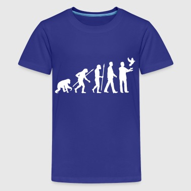 evolution_of_man_taubenzuechter01_1c - Kids' Premium T-Shirt