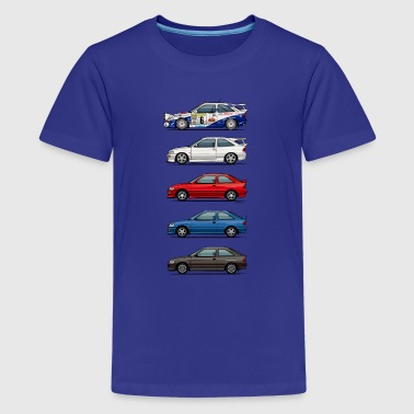 Stack of Ford Escort MkVs Coupes - Kids' Premium T-Shirt