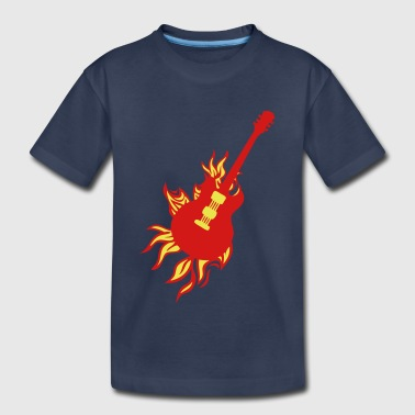 fire flame guitar electric - Kids' Premium T-Shirt