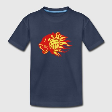volleyball panther fire flame logo - Kids' Premium T-Shirt